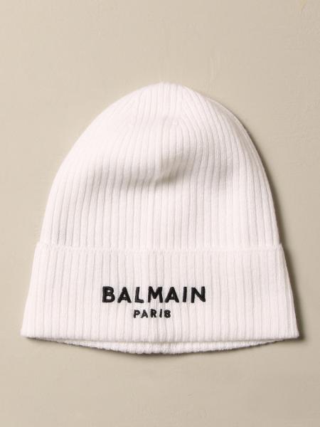 Balmain cashmere hat with logo