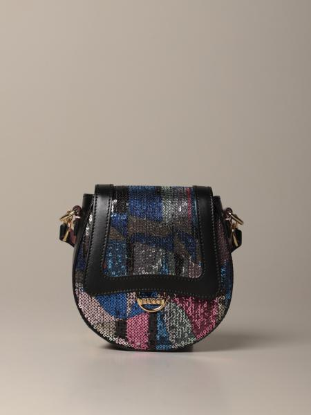 Emilio Pucci: Emilio Pucci bag in leather and multicolor sequins