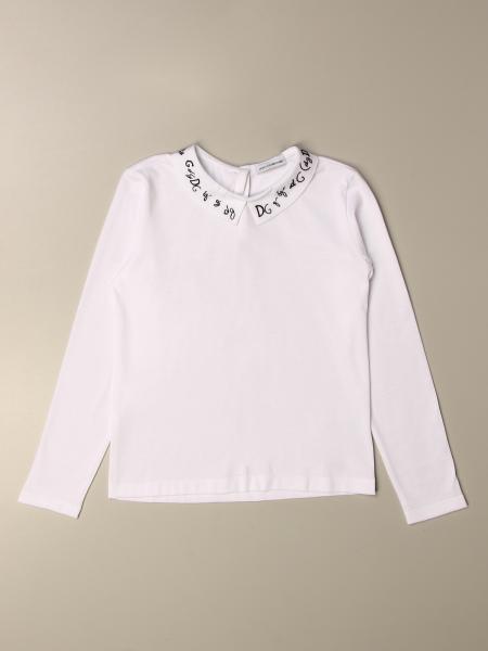 Dolce & Gabbana: T-shirt Dolce & Gabbana con colletto logato