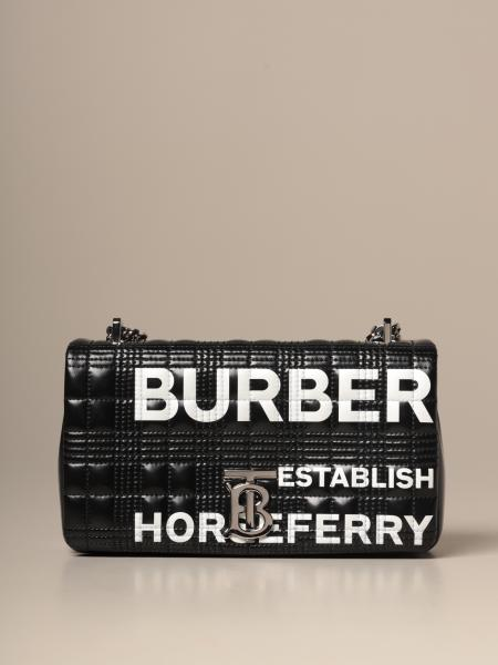 Lola Burberry shoulder bag in coated and quilted cotton