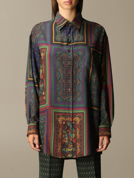 Camicia Etro con mix di stampe paisley