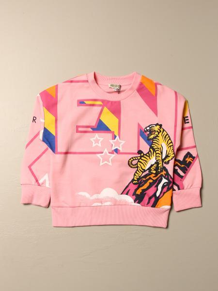 Maglia Kenzo Junior in cotone con logo Tiger Kenzo all over