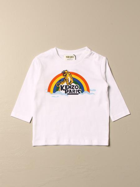 Kenzo kids: Kenzo Junior cotton t-shirt with rainbow logo