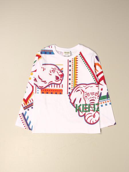 Kenzo kids: Kenzo Junior cotton T-shirt with all over Tiger Kenzo logo