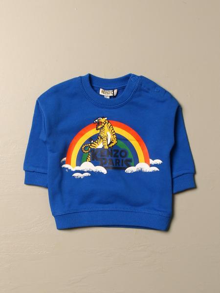 Kenzo kids: Kenzo Junior cotton sweatshirt with Kenzo Paris rainbow logo