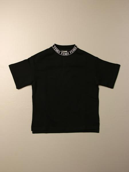 Fendi T-shirt with logoed crew neck