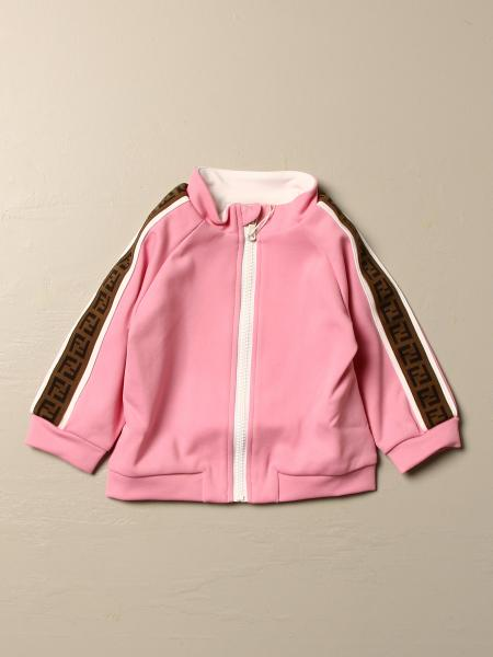 Fendi kids: Fendi sweatshirt with hood and zip