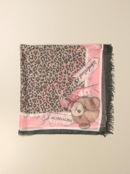Monnalisa scarf with Alice in Wonderland print