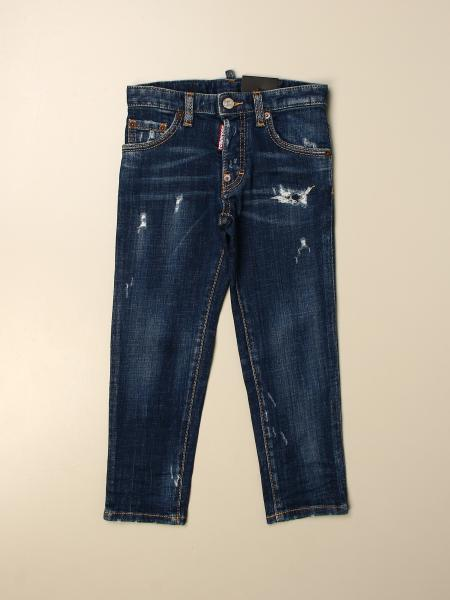 Jeans Dsquared2 Junior in denim con rotture