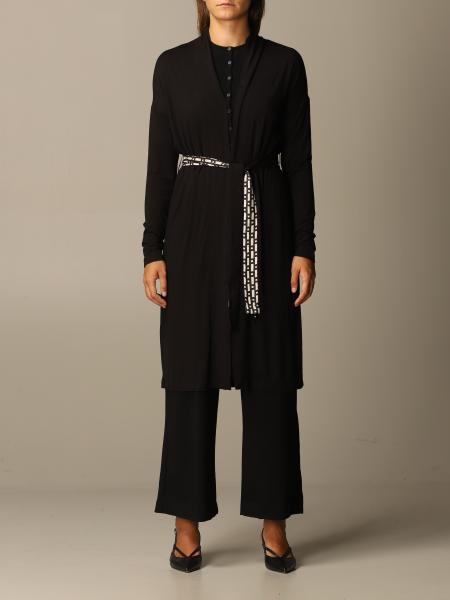 S Max Mara long cardigan with patterned belt
