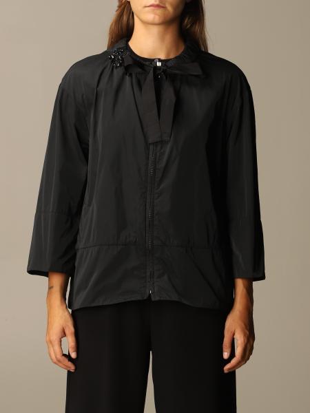 S Max Mara: Giacca di nylon S Max Mara con girocollo gioiello