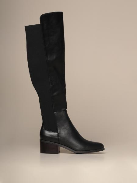 Graphite Steve Madden boot in synthetic leather with elastic band