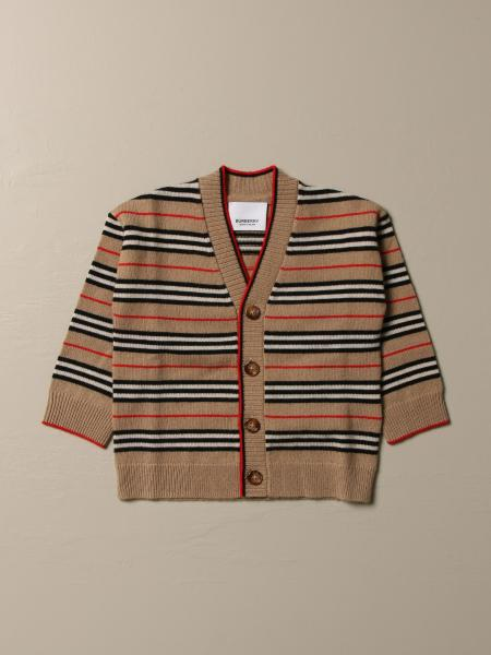 Burberry cardigan in wool and cashmere with striped pattern