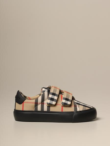 Sneakers Burberry in cotone vintage check