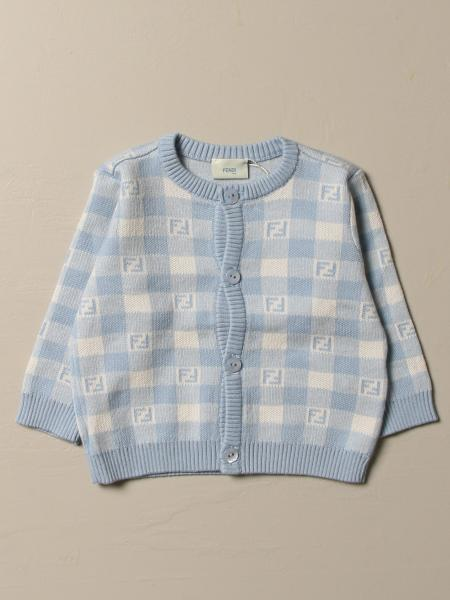 Fendi checked cardigan with FF logo