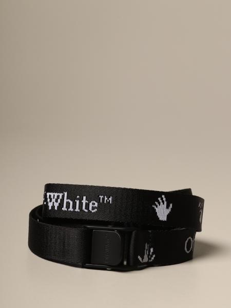Cintura Industrial Off White in tela logata