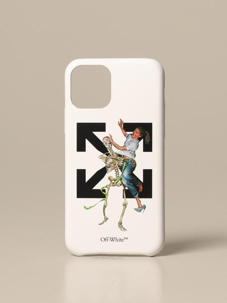 Off White men: Pascal Skel Iphone 11 pro Off White cover with print
