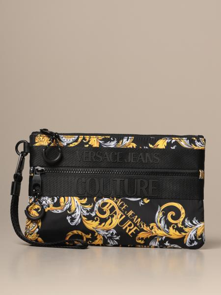 Versace Jeans Couture baroque nylon clutch bag