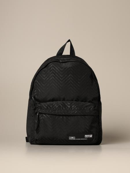 Versace Jeans Couture nylon backpack with all over chevron logo