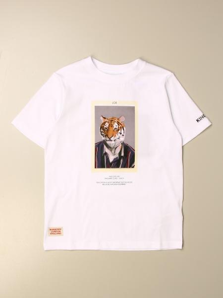 Burberry bambino: T-shirt Burberry con stampa frontale