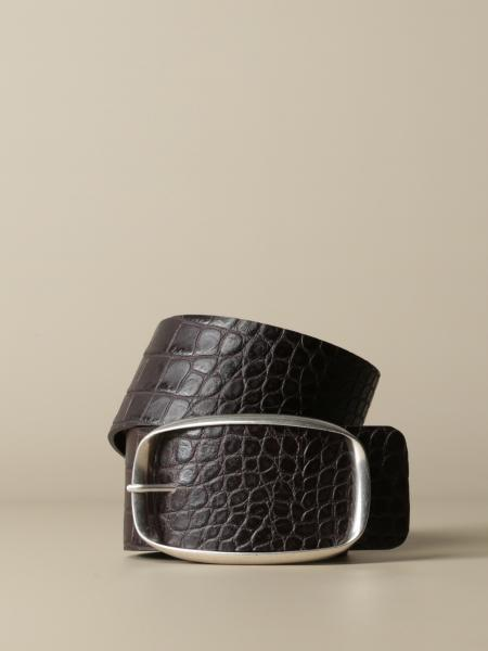 Dondup belt in crocodile print leather