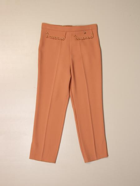 Elisabetta Franchi classic trousers with piercing