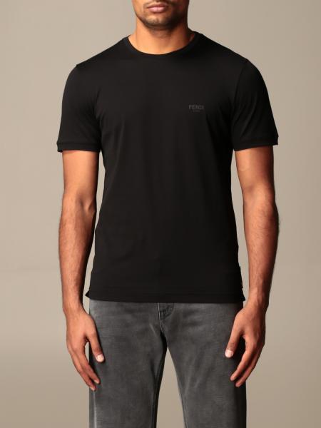 Fendi uomo: T-shirt Fendi con occhi camouflage