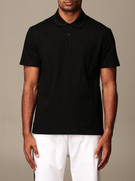 Versace short-sleeved polo shirt with baroque details