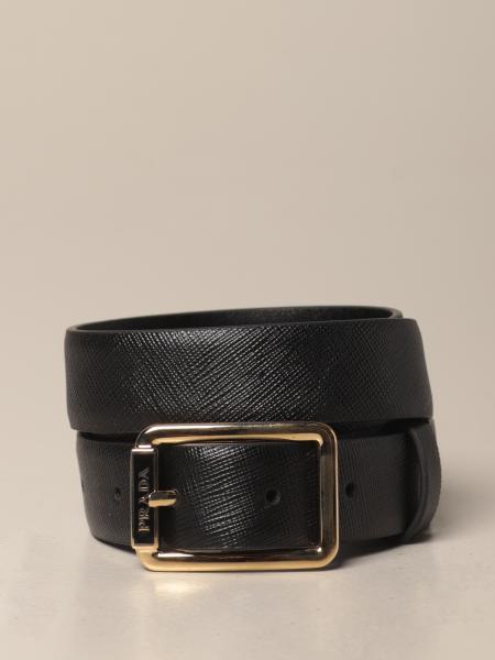 Cintura classica Prada in pelle saffiano