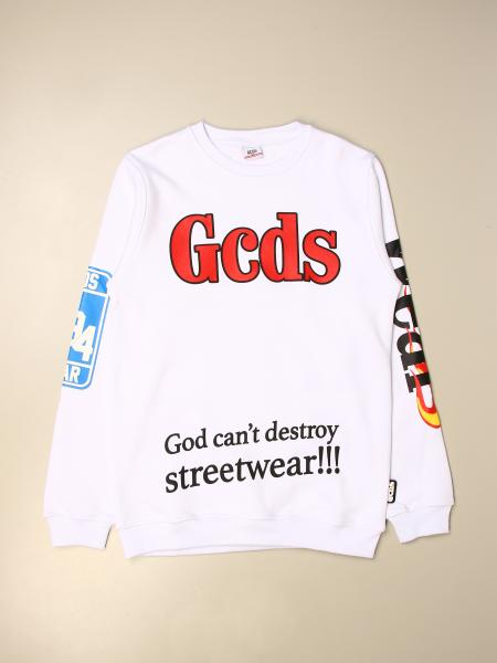 Gcds kids: Gcds crewneck sweatshirt in jersey with logo