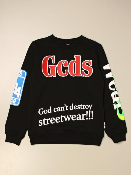 Felpa a girocollo Gcds in jersey con logo