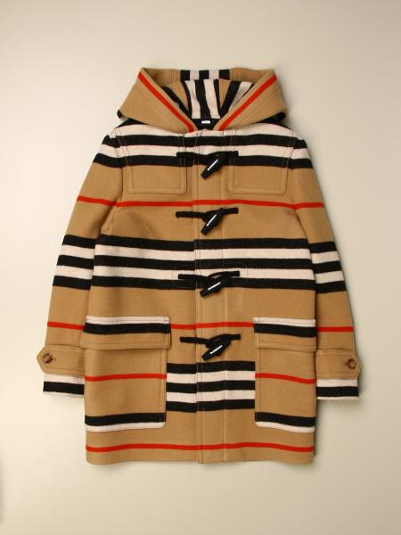 Burberry kids: Burberry striped hooded coat