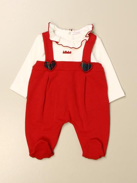 Tutina con piede Le Bebè con bretelle