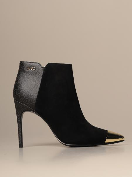 Liu Jo ankle boot in suede and monogram saffiano synthetic leather