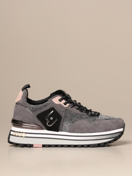 Liu Jo platform sneakers in suede and lurex