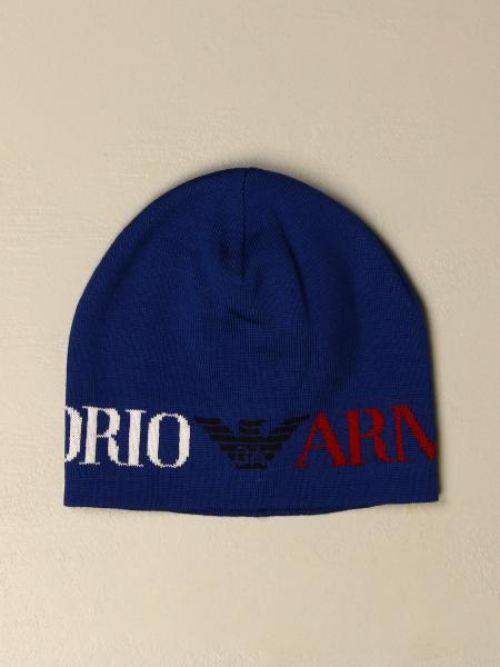 Cappello a berretto Emporio Armani in lana vergine