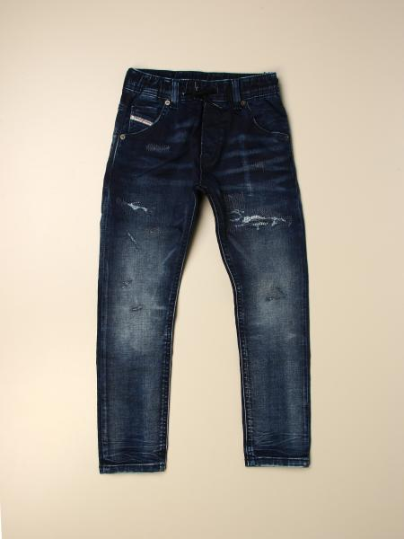 Diesel: Jeans Diesel in denim used con rotture