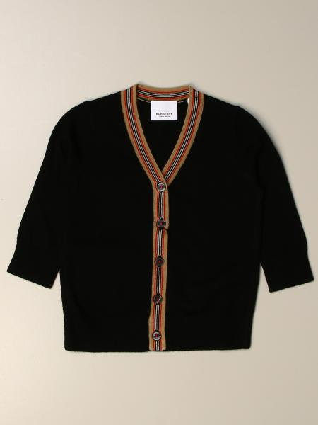 Burberry cardigan with striped profiles