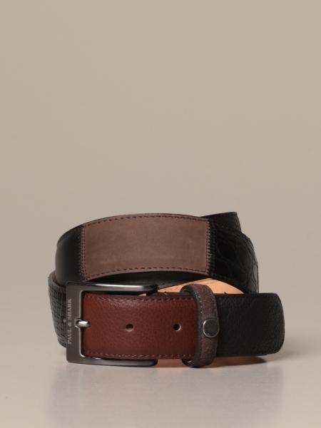 Paul & Shark belt in leather mix