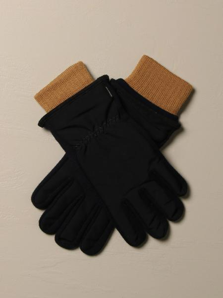 Paul & Shark gloves in technical fabric and knit