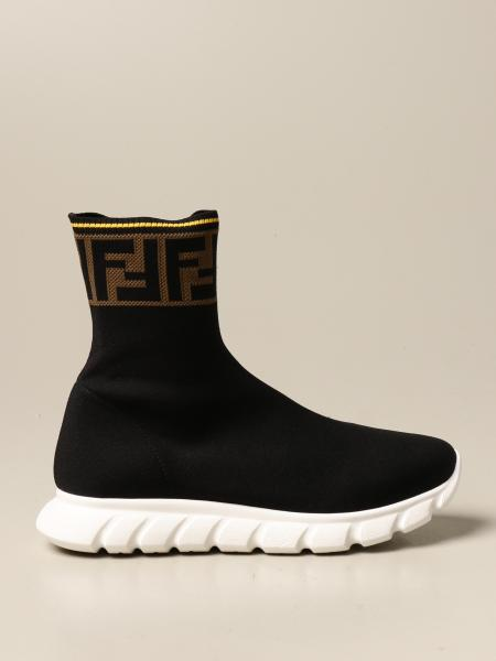 Fendi kids: Fendi sneakers in stretch knit