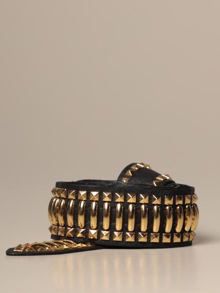 Cintura Alberta Ferretti in pelle e metallo
