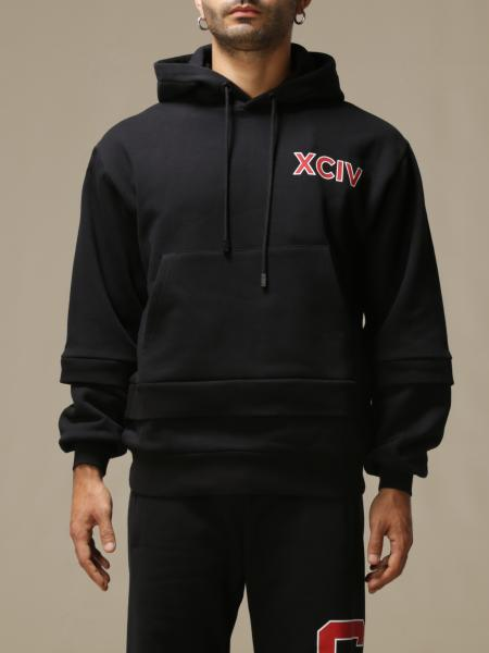 Gcds men: GCDS cotton sweatshirt with big back logo