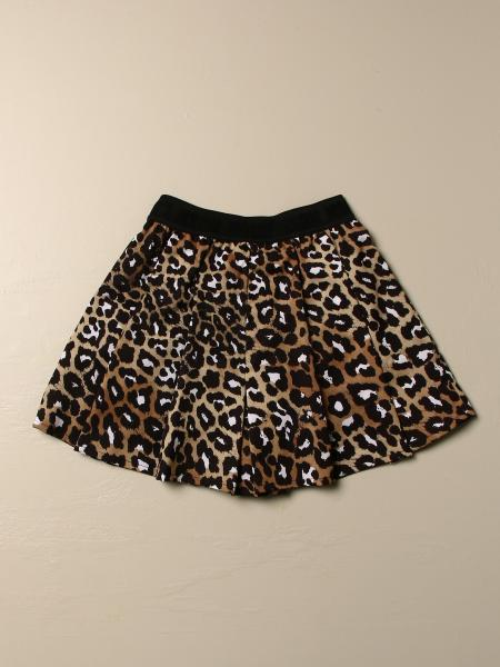 Msgm Kids skirt with animalier pattern