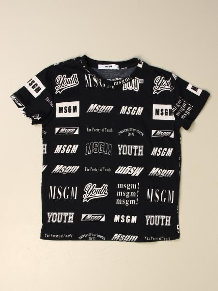 T-shirt Msgm Kids in cotone con logo