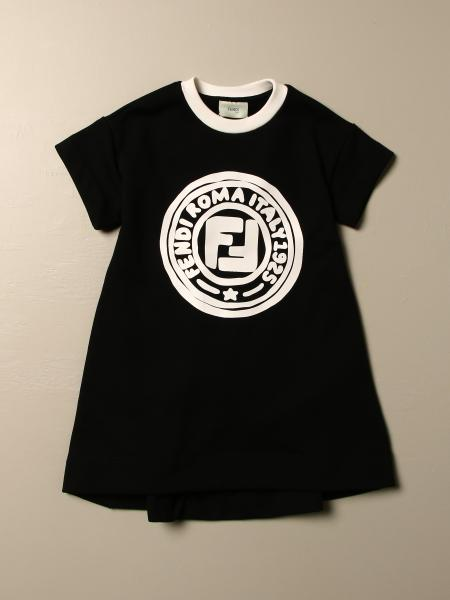 Fendi kids: Fendi dress with Fendi Roma logo