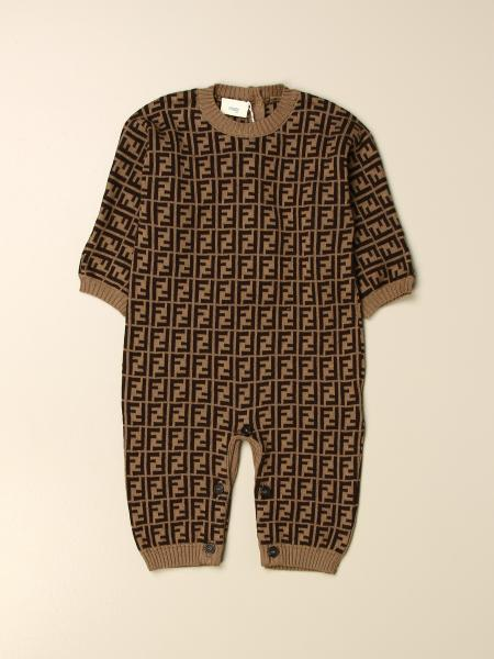 Fendi kids: Long Fendi jumpsuit with all-over FF logo