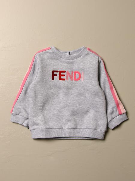 Fendi kids: Fendi sweatshirt with logo and striped bands