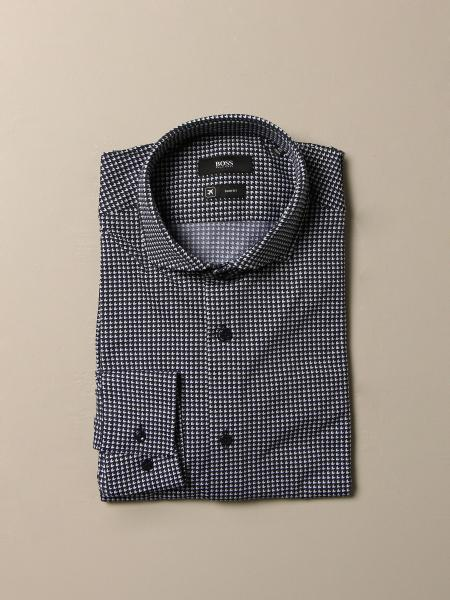Camicia Boss a fantasia con collo francese