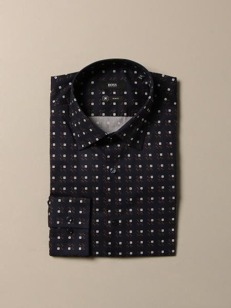 Camicia Boss a quadri con collo italiano